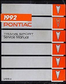 auto repair manual online 1991 pontiac trans sport instrument cluster 1992 pontiac trans sport van repair shop manual original