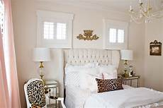 White Pink And Gold Bedroom Ideas by Pink And Gold S Bedroom Makeover Randi Garrett Design