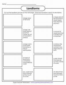 landforms super teacher worksheets