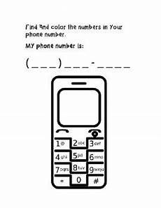 phone number worksheet by teaching special transitions tpt