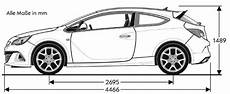 Opel Astra J Opc Abmessungen Technische Daten L 228 Nge