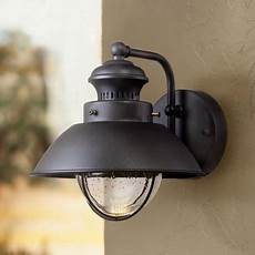 timberland rustic outdoor wall light fixture led black 8 quot seedy glass sconce for exterior
