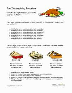 thanksgiving division worksheets 4th grade 6686 thanksgiving fractions worksheet education