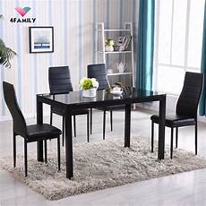 Kitchen Furniture Ebay by 5 Glass Metal Dining Table Set 4 Chairs Kitchen Room