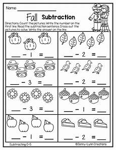 subtraction stories worksheets for kindergarten 10536 fall subtraction preschool worksheets subtraction kindergarten learning
