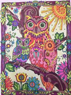 owls creative dover publishing prismacolor markers