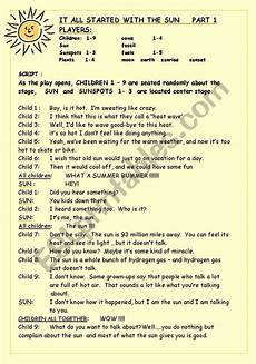it all started with the sun part 1 esl worksheet by nitader