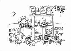 kleurplaat playmobil huis ausmalbilder zum ausdrucken