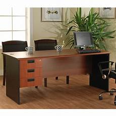 home office furniture sets sale lee and smith office straight desk with 3 drawers 206