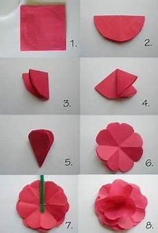 Papierblumen Basteln Anleitung - die 32 besten bilder blumen falten blumen basteln