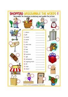 worksheets shopping 18462 shopping esl printable vocabulary worksheets
