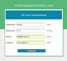 form validation using ajax formget