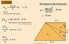 mathematik 8 klasse seite a eines trapezes berechnen