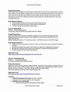 resume android developer