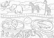 zoo animals large printable coloring poster for etsy