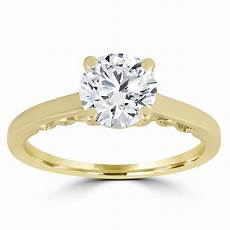 Engagement Rings Yellow Gold Solitaire