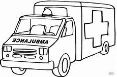 ambulance emergency car coloring page free printable