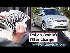how to replace pollen cabin air filter ford galaxy s max