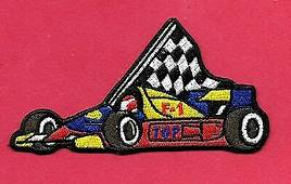 New 100% Embossed F 1 Top Race Car 2 X 4 Inch Iron On