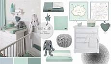 Babyzimmer Deko Junge - babyzimmer mit wolken in grau mint jade kinderzimmer