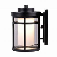 home decorators collection black outdoor led small wall light dw7031bk the home depot