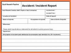 9 incident and accident report form template progress report