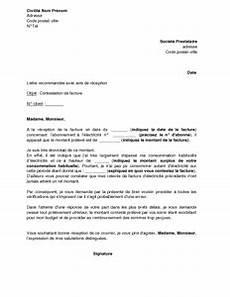 Changement D Abonnement Edf Lettre De Contestation De Facture D 233 Lectricit 233 Mod 232 Le