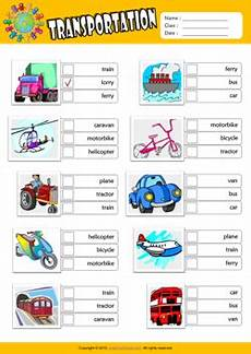 transportation worksheets esl 15184 transportation esl choice worksheet for imagens meios de transporte