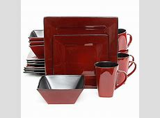 Gibson Overseas Kiesling 16 Piece Dinnerware Set in Red
