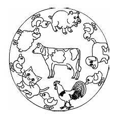 Ausmalbilder Haustiere Bauernhof Tiermandalas Im Kidsweb De