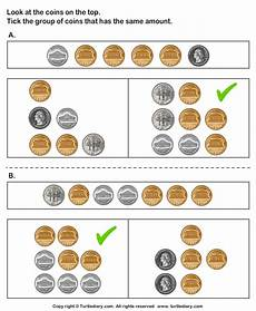 money equivalent worksheets 2142 equivalent amount with currencies turtlediary