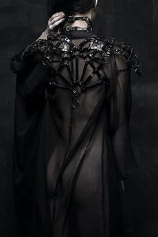 model leather darkness goth designer gothic harness nu
