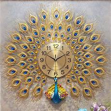 Large Wall Clock Luxury Peacock Metal by 3d Large Wall Clock Luxury Peacock Metal Living Room Wall