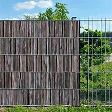 Holzbohle Doppelstabmatten Sichtschutzstreifen Ohne Pvc