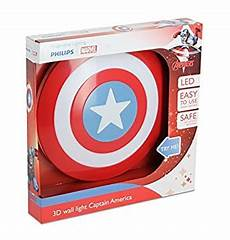 philips captain america shield 3d led wall light including 3aa batteries blue white
