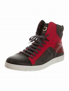 salvatore ferragamo stephen high top sneakers shoes
