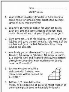 realistic math problems help 6th graders solve real life questions math word problems word