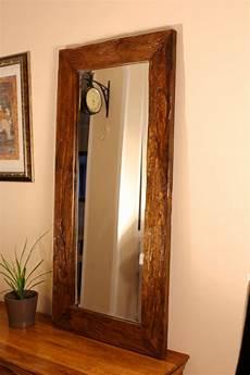Teak Altholz Badezimmer Holz Spiegel Hanoi Rustikal Kinaree