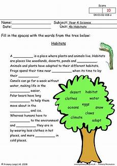 plants habitat worksheets 13564 year 4 science printable resources free worksheets for