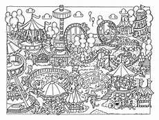 fun at the fair colouring page download by elspethrosedesign