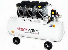 Druckluft Kompressor 100l - starkwerk silent druckluft kompressor sw 477 8 214 lfrei 100l