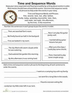 time sequencing worksheets 3200 time and sequence words practice ม ร ปภาพ