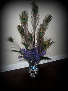 peacock feather centerpiece for bridal shower bridal