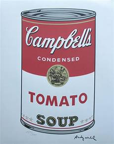 Andy Warhol Tomato Cbell S Soup Signed Numbered