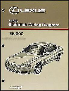 auto manual repair 1993 lexus es electronic throttle control 1995 lexus es 300 wiring diagram manual electrical schematics 95 es300 original ebay