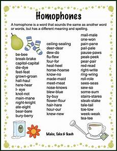 free homophones word list and poster activities for teaching homophones secondgradesquad