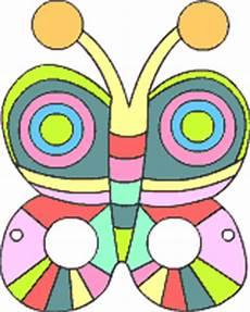 Malvorlage Maske Schmetterling Tiermasken Basteln