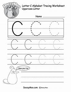 handwriting worksheets letters of all sizes 21474 can trace the capital letter c in different sizes in this free printable there is also