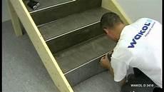 pvc auf fliesen verlegen verlegen pvc bel 228 auf treppen wakol d 3410