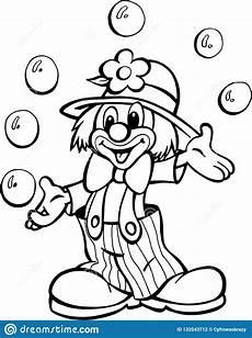 Fasching Ausmalbilder Clown Clown De Stock Illustrations Vecteurs Clipart